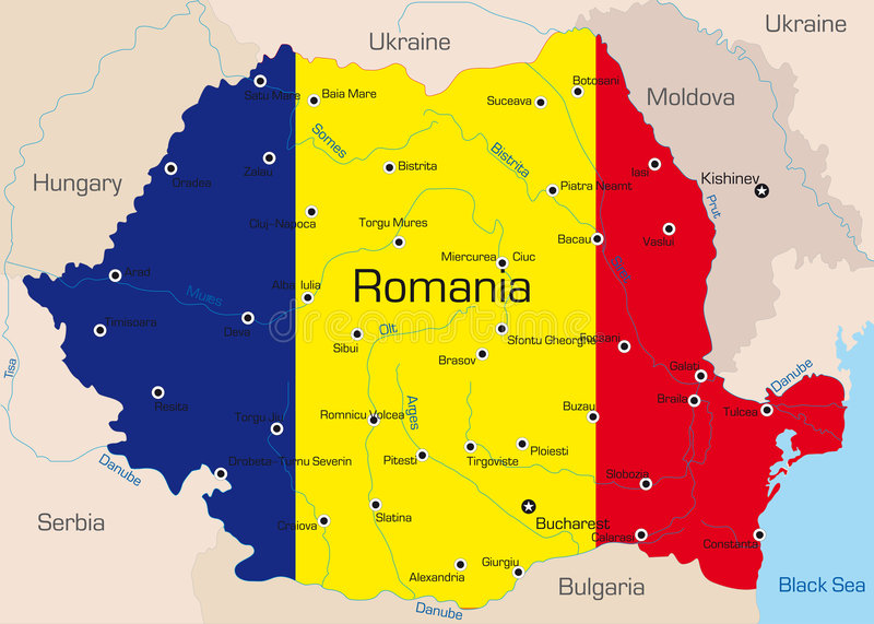 Rumunia ilustracja wektor