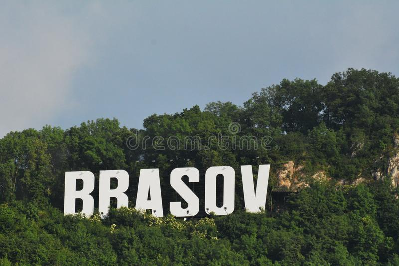 Rumunia Brasov znak na Tampa zdjęcia royalty free
