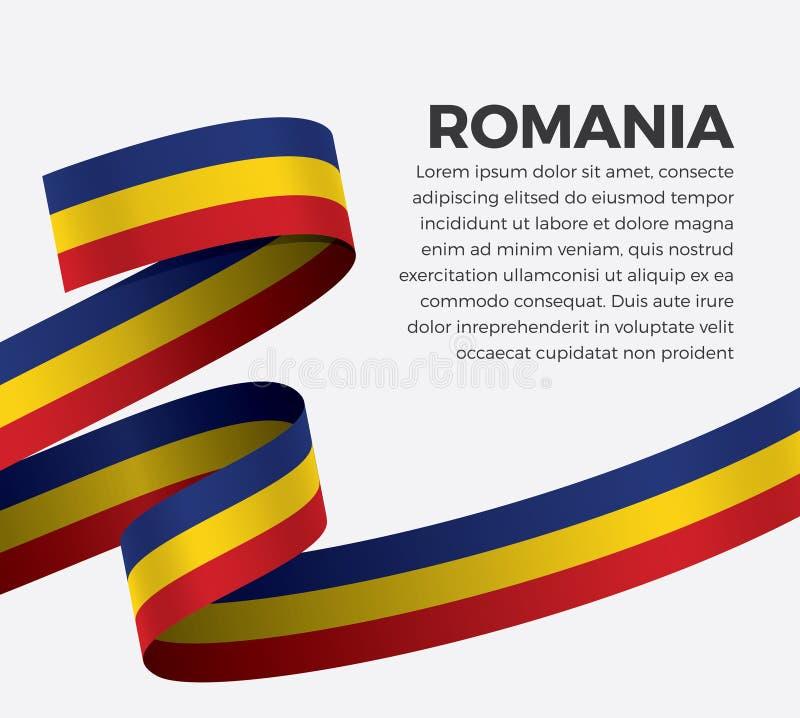 Rumunia flaga dla dekoracyjnego Wektorowy tło ilustracji