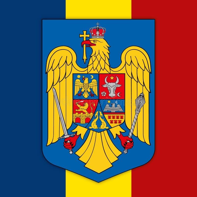 Rumunia flaga i żakiet ręki ilustracja wektor