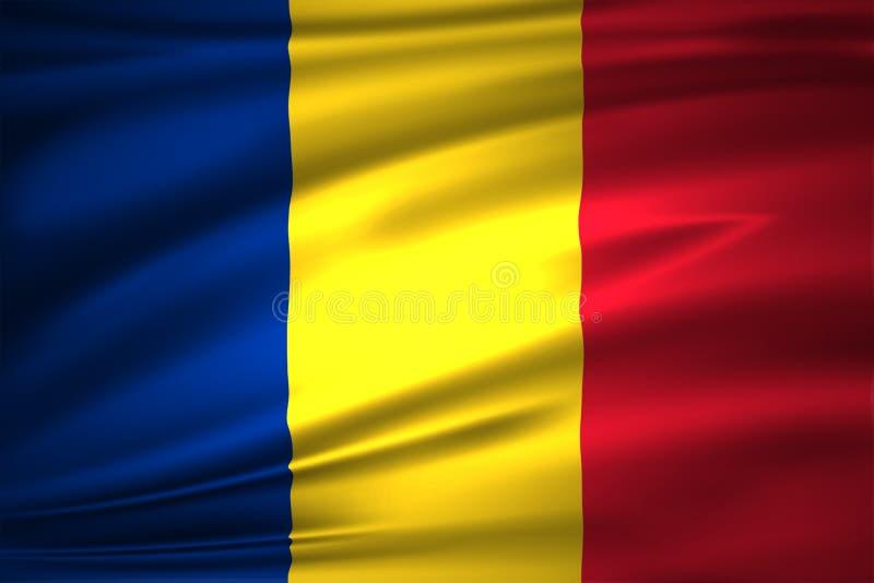 Rumunia flaga ilustracja ilustracji