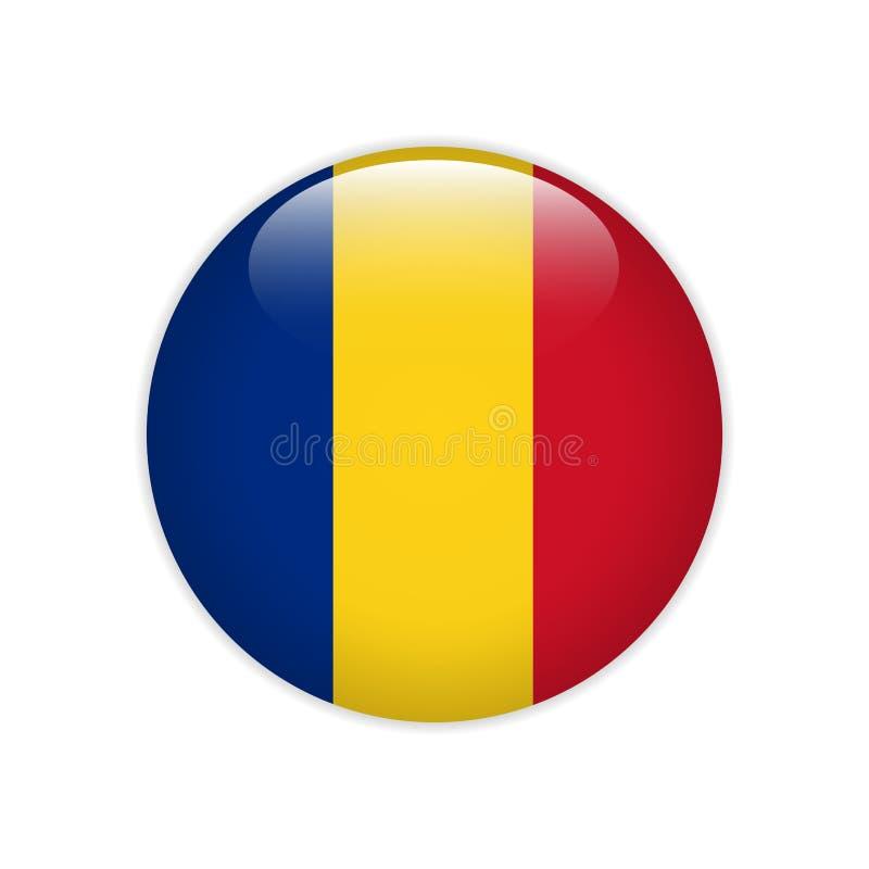Rumunia flaga na guziku royalty ilustracja