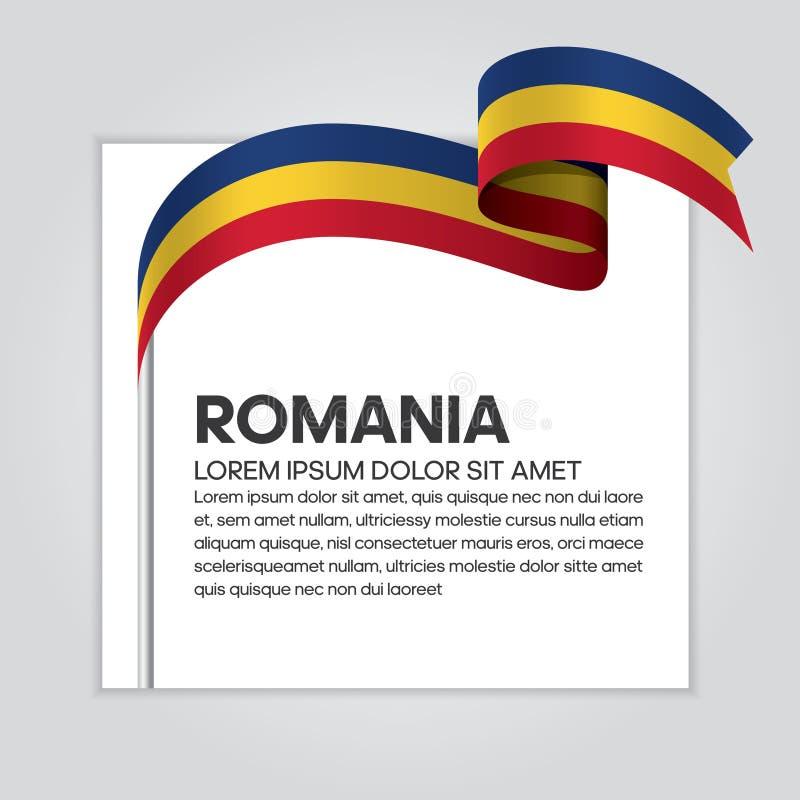 Rumunia flaga tło ilustracja wektor