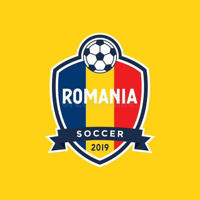 Rumunia flagi mistrzostwa piłki nożnej grzebień ilustracji