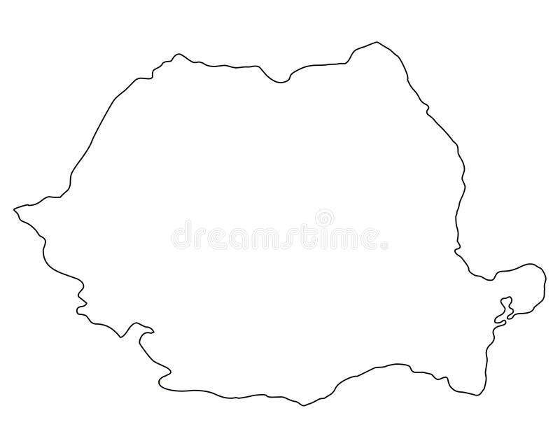Rumunia mapy konturu wektoru ilustracja ilustracji