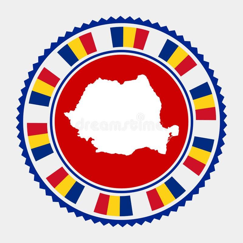 Rumunia mieszkania znaczek ilustracja wektor