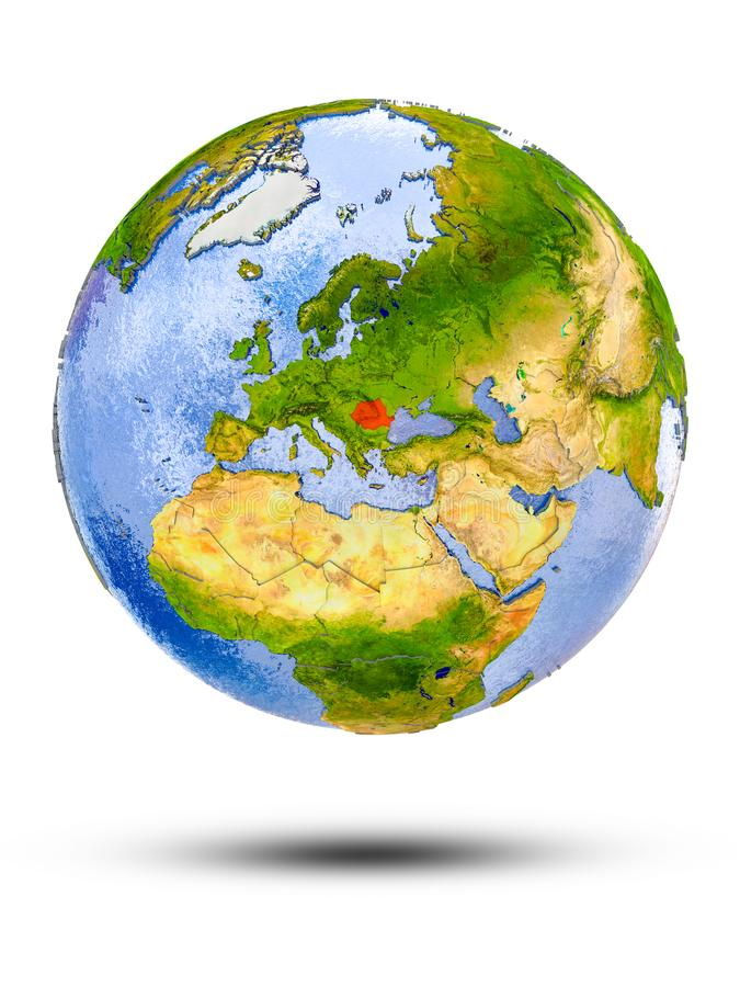 Rumunia na kuli ziemskiej ilustracja wektor