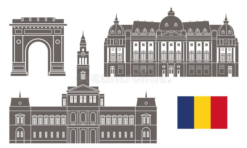 Rumunia Set royalty ilustracja