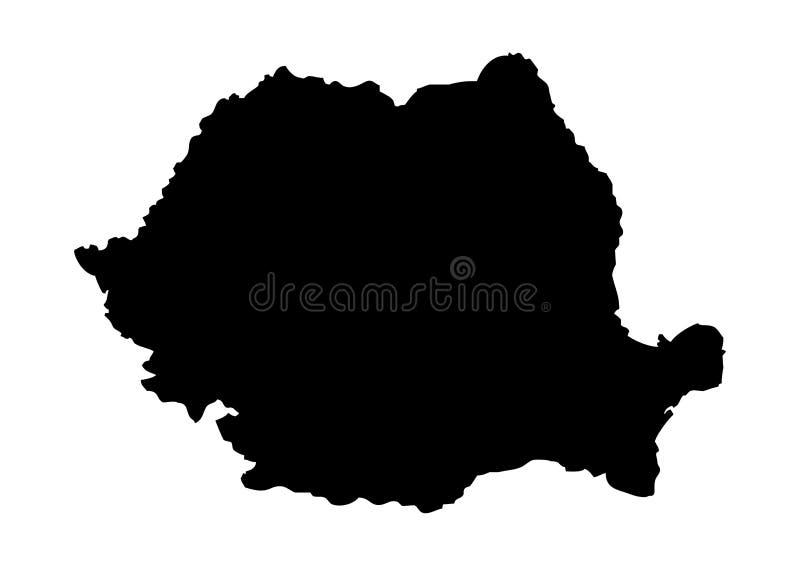 Rumunia stanu mapy wektoru sylwetka royalty ilustracja
