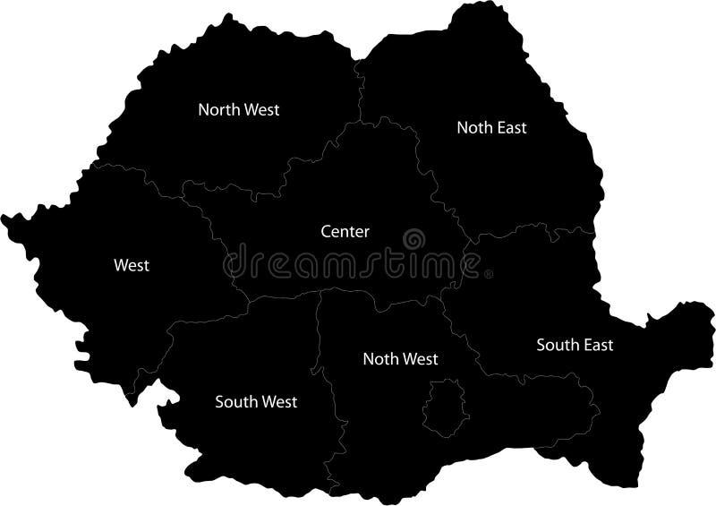 Rumunia wektorowa mapa ilustracji