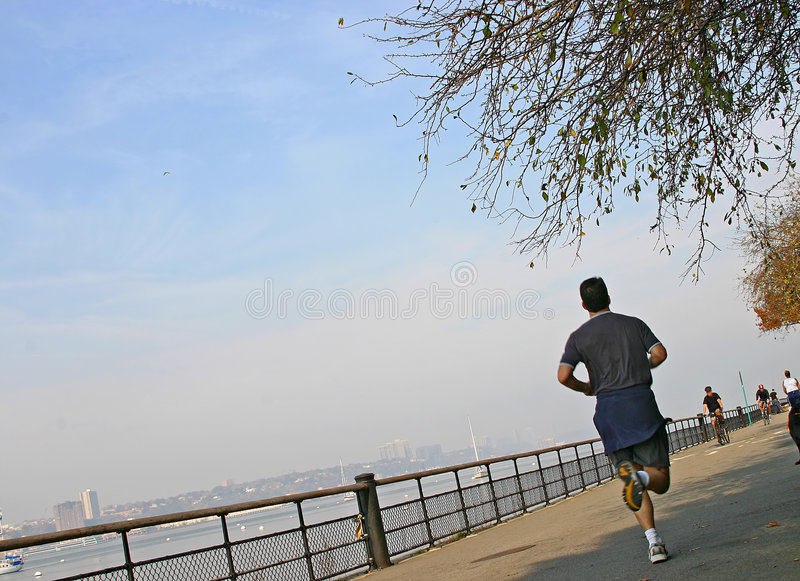 Download Run along a river stock image. Image of runner, autumn - 473953