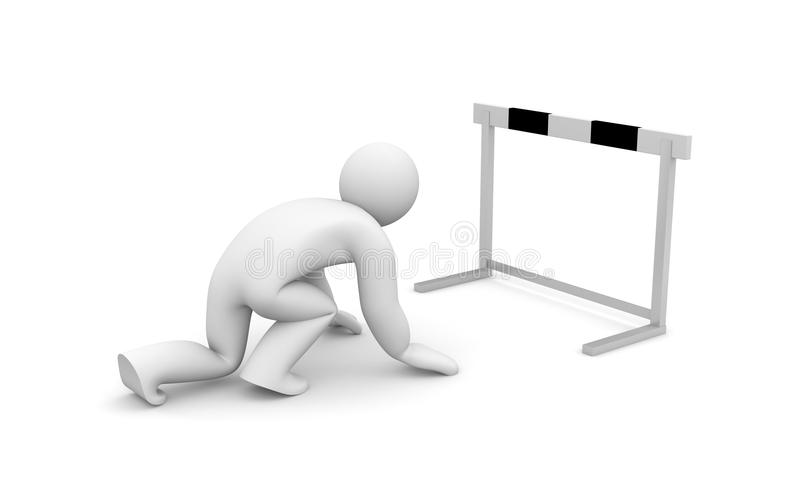 Download Run with barrier stock illustration. Image of decision - 18059359
