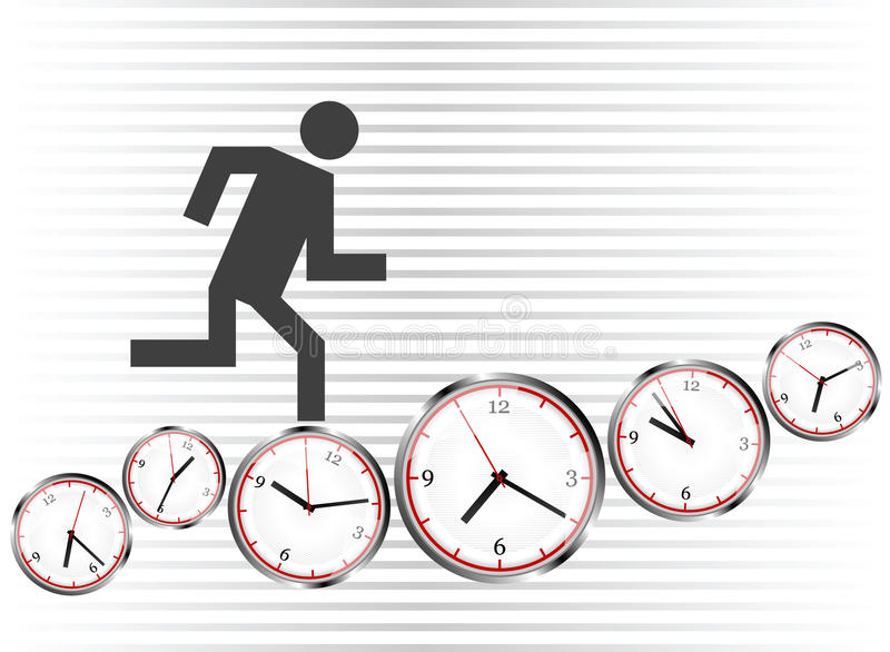 Download Run on clocks stock vector. Image of race, white, group - 13884587