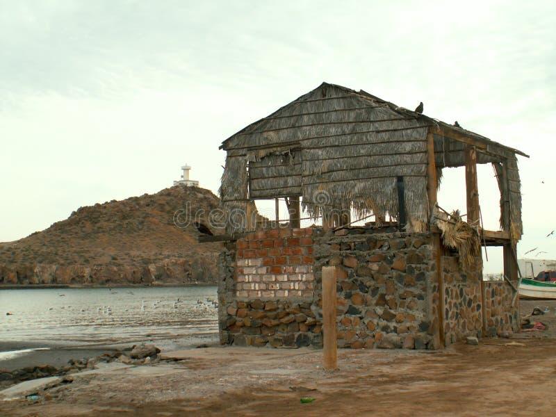 Run down building shack Baja California Sur, Mexico royalty free stock photography