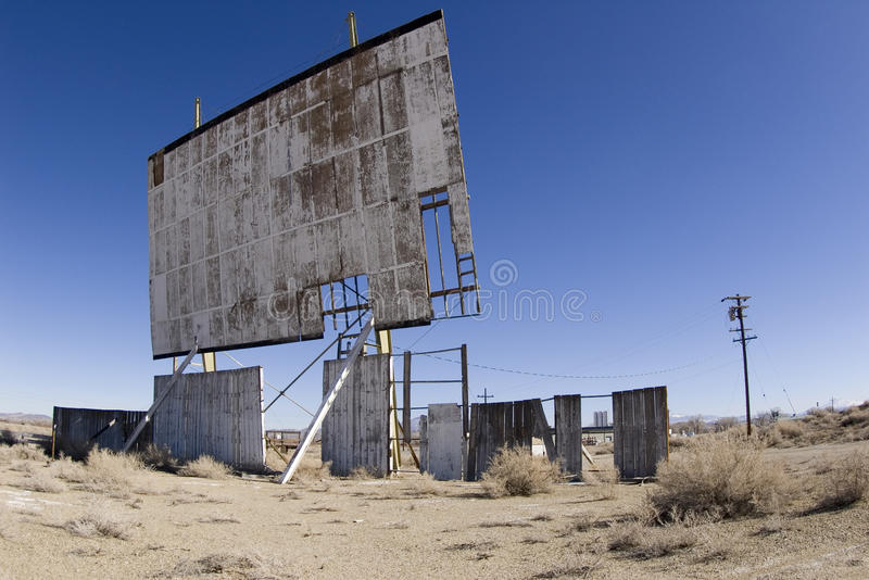 Run Down Drive-in Movie Screen Royalty Free Stock Images