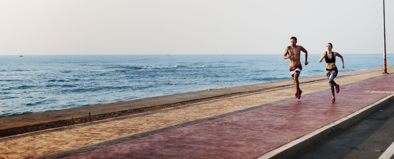 Run Exercise Beach Sport Coast Sprint Nature Concept. Run Exercise Beach Sport Coast Sprint Nature royalty free stock image