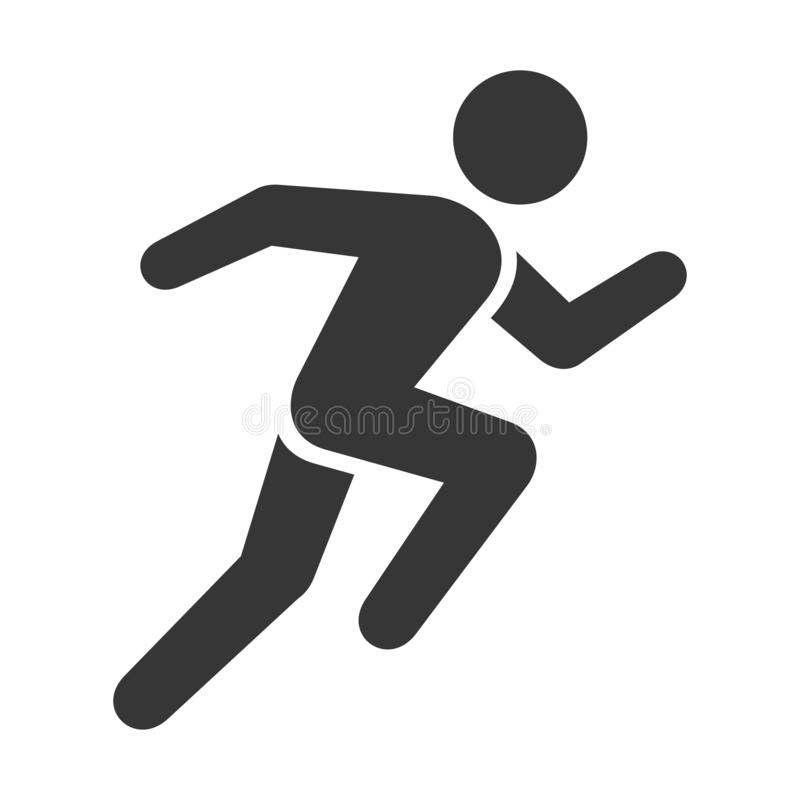Free Run Icon. Running Man On White Background. Vector Stock Photo - 133449440
