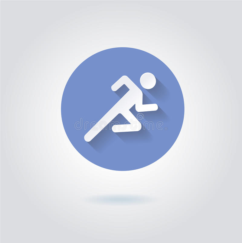 Run Icon royalty free illustration