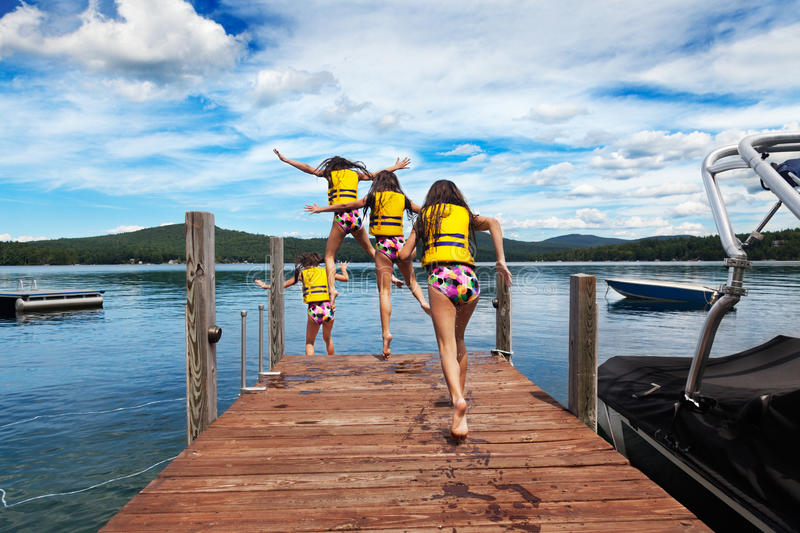 Download Run and jump stock photo. Image of swimming, life, jacket - 27543790