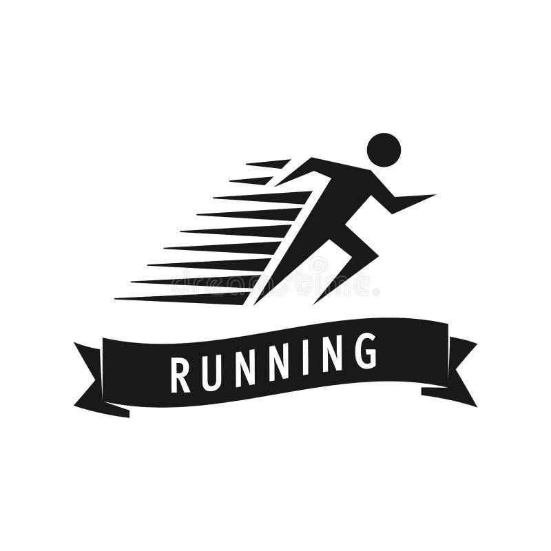 Run man logo template. Vector illustration of fast running man royalty free illustration