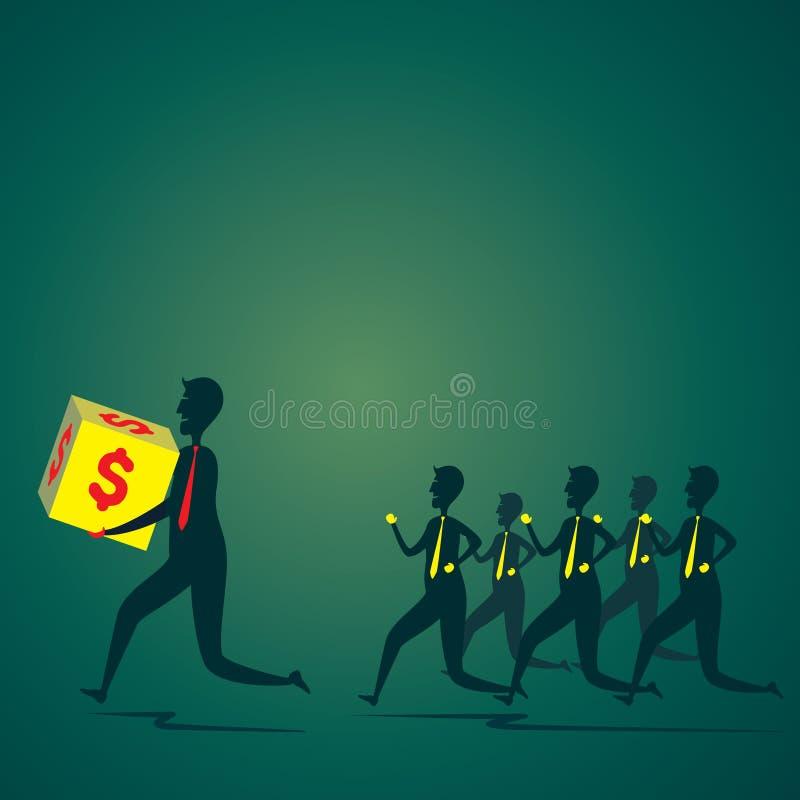 Run for money stock illustration