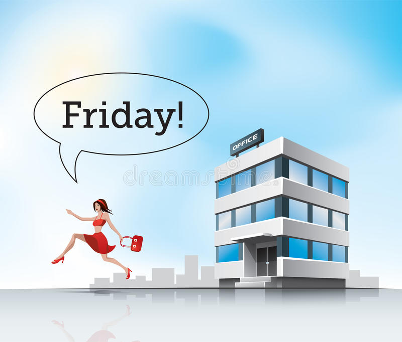 Run from office royalty free illustration