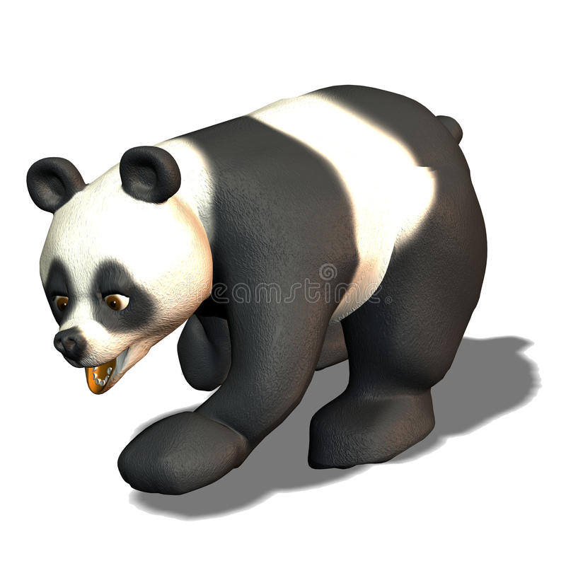 Run Panda Bear Stock Image
