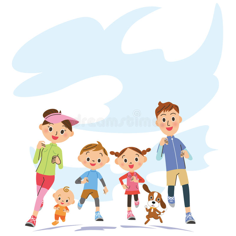 Run in parent and child. I run in close parent and child happily vector illustration