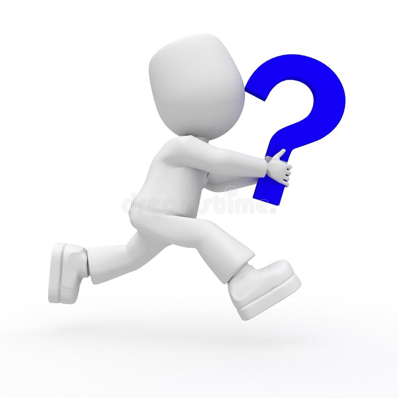 Download Run With Question Royalty Free Stock Images - Image: 12050929