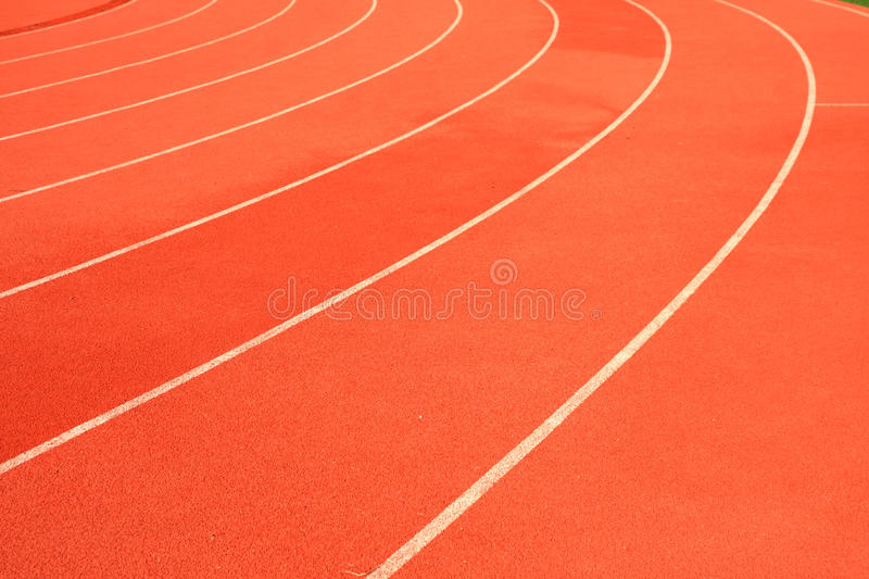 Run race track in sport stadium. royalty free stock photos