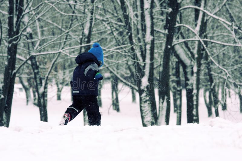 Childhood in winter. royalty free stock image