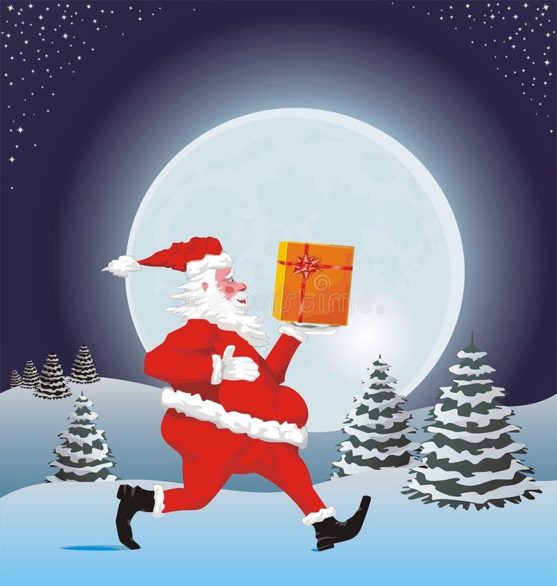 Download Run, santa, run stock vector. Illustration of festive - 17099679