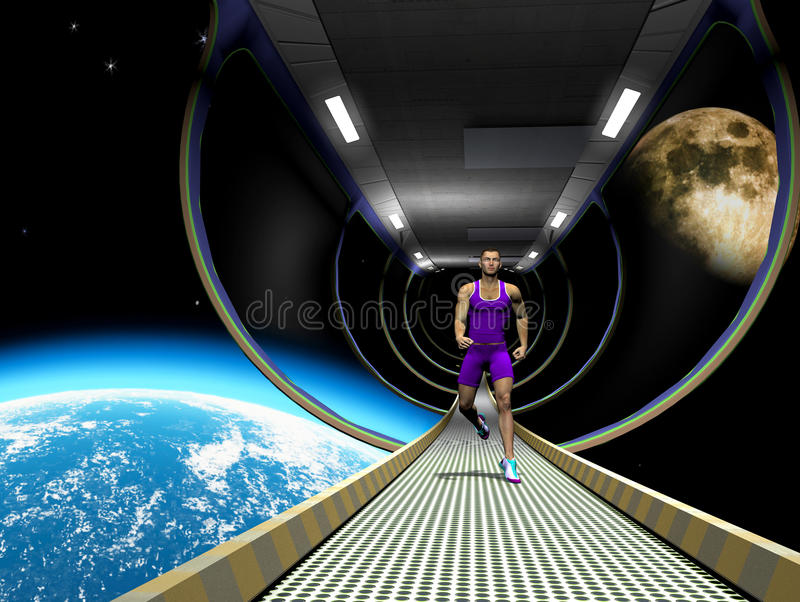 Download Run in space stock illustration. Image of exercise, healthy - 23361035