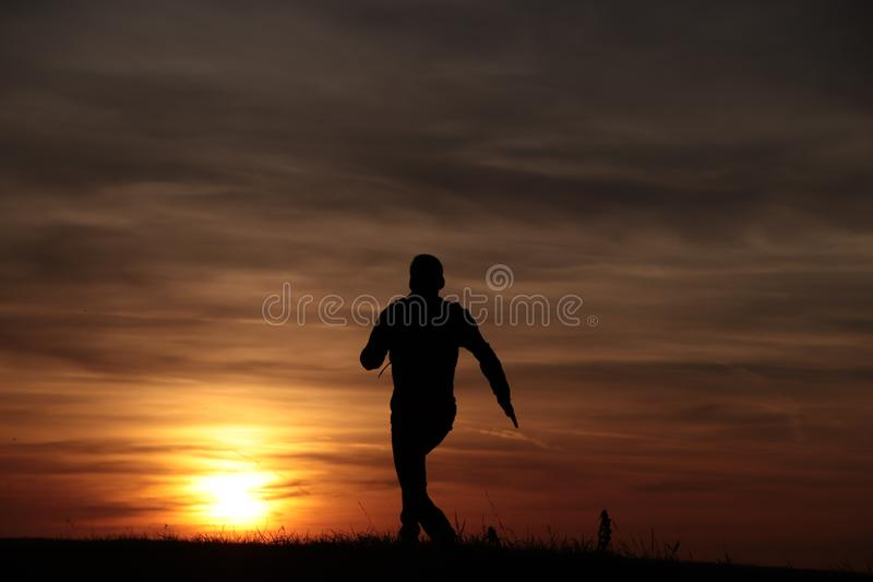 Run to the sun stock photos