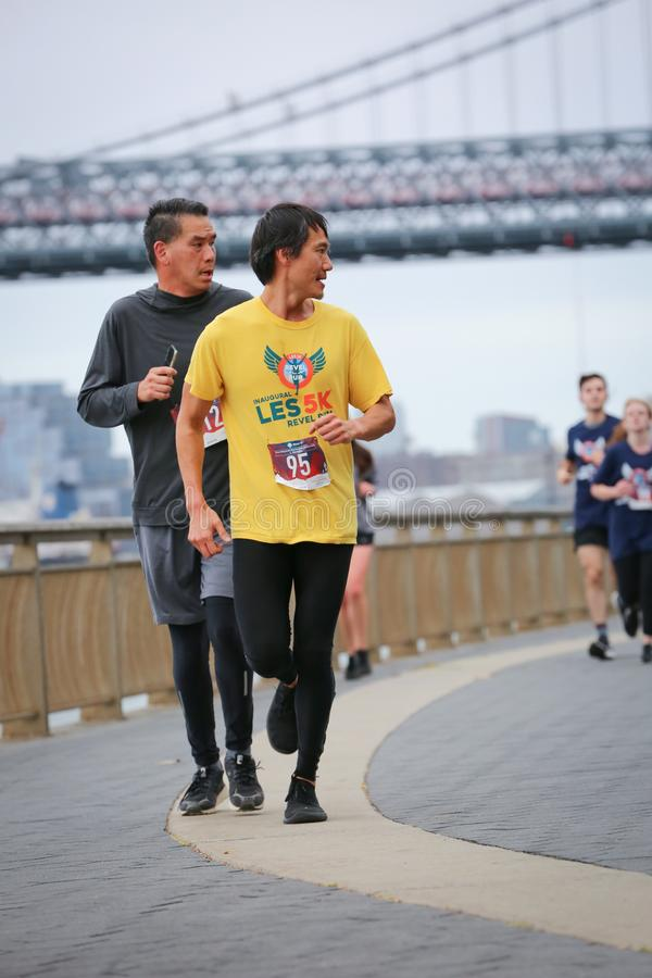 LES5K REVEL RUN 10.06.2019. Run/walk is inspired by and in memory of Pavel Lempert. A day that promotes health, fitness, diversity and unity to benefit youth royalty free stock photo