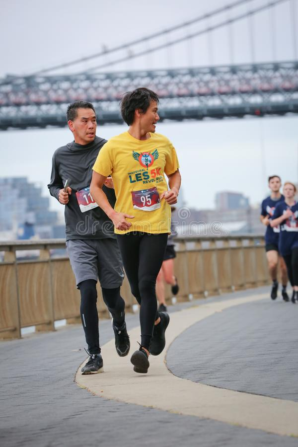 LES5K REVEL RUN 10.06.2019. Run/walk is inspired by and in memory of Pavel Lempert. A day that promotes health, fitness, diversity and unity to benefit youth royalty free stock images
