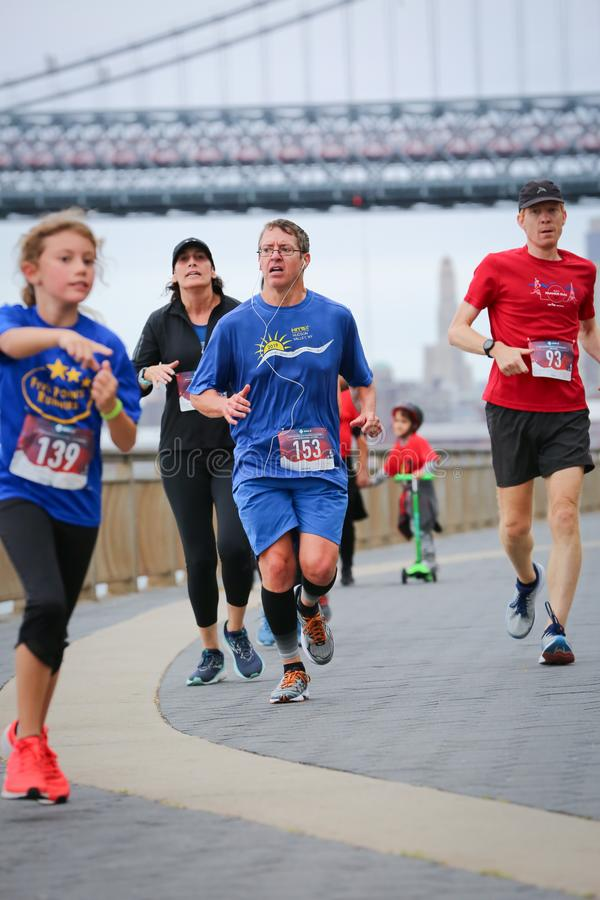 LES5K REVEL RUN 10.06.2019. Run/walk is inspired by and in memory of Pavel Lempert. A day that promotes health, fitness, diversity and unity to benefit youth stock images