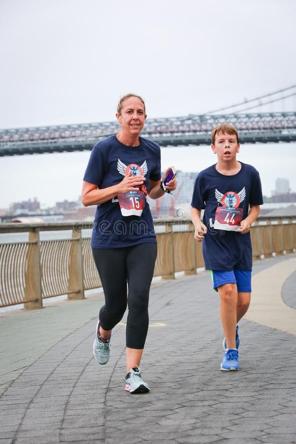 LES5K REVEL RUN 10.06.2019. Run/walk is inspired by and in memory of Pavel Lempert. A day that promotes health, fitness, diversity and unity to benefit youth stock image
