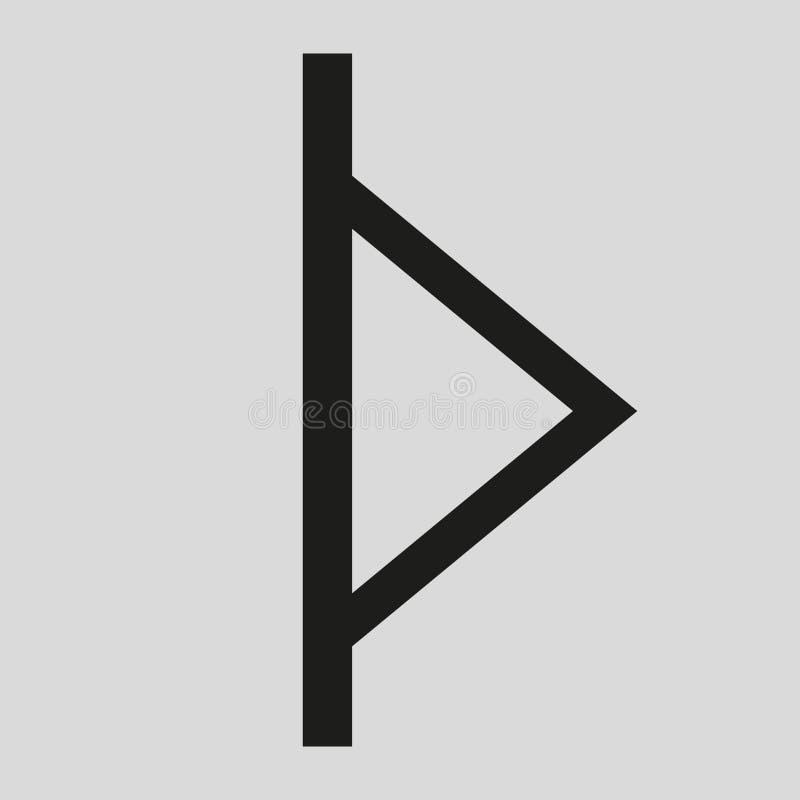 Runa Turisaz is de verpersoonlijking van Thor vector illustratie