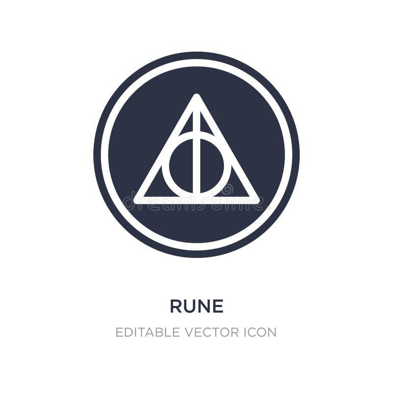 runasymbol på vit bakgrund Enkel beståndsdelillustration från diverse begrepp stock illustrationer
