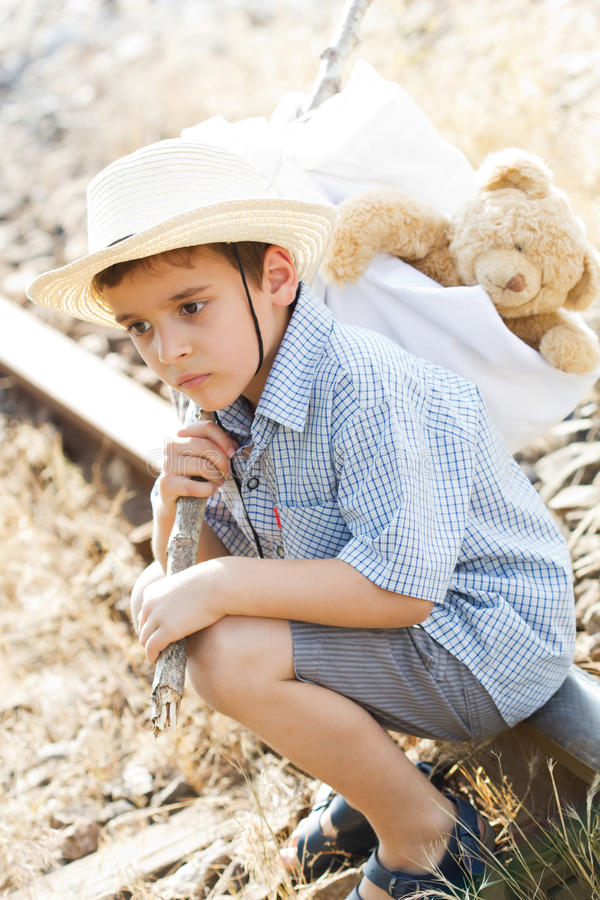 Download Runaway stock photo. Image of railroad, teddy, small - 25964448