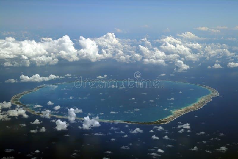 rund atoll arkivfoto