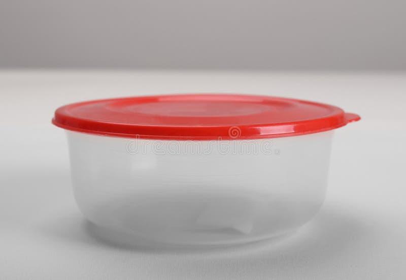 rund behållareplast- royaltyfri fotografi