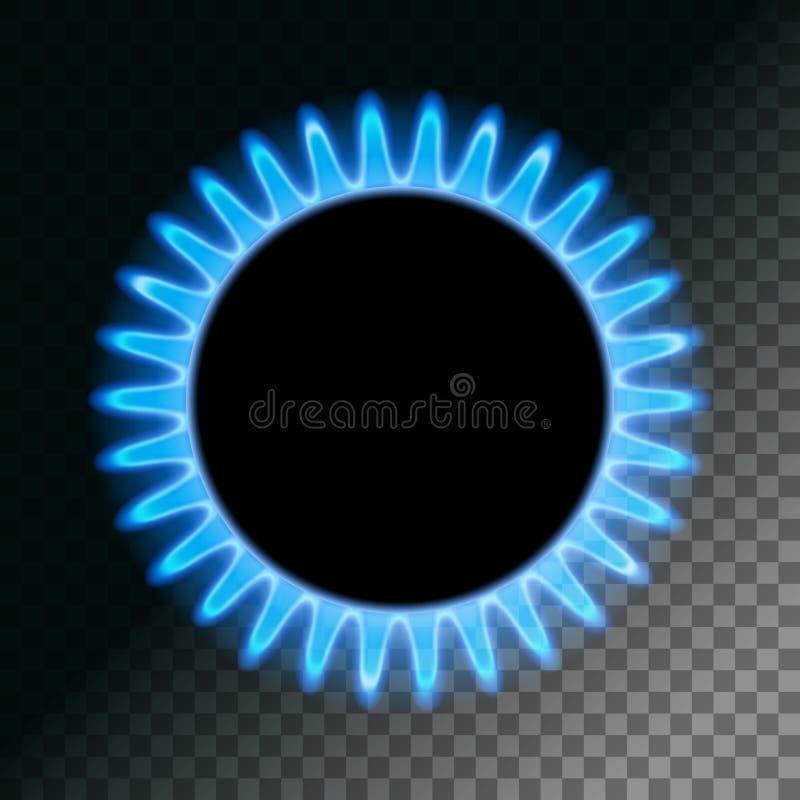 Rund blå flamma vektor illustrationer