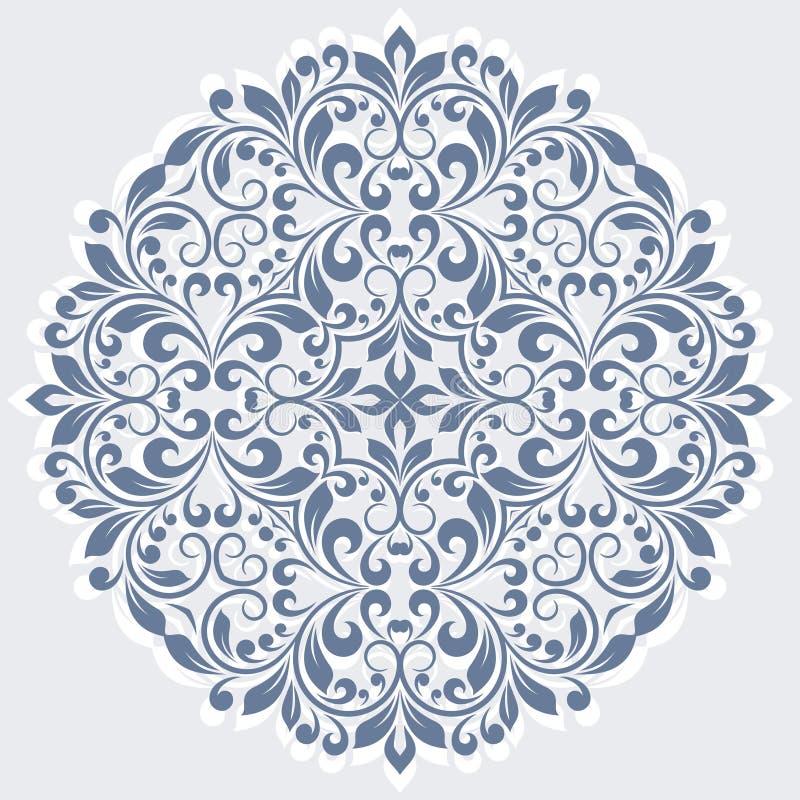 Rund blom- modell. royaltyfri illustrationer