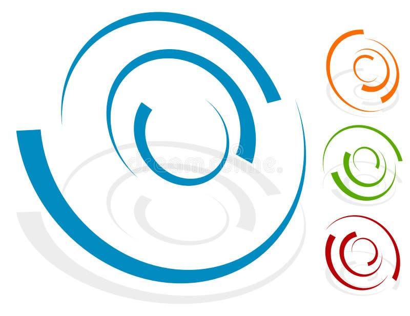 Rund designbeståndsdel, olik version för logoform 4 med 4 stock illustrationer