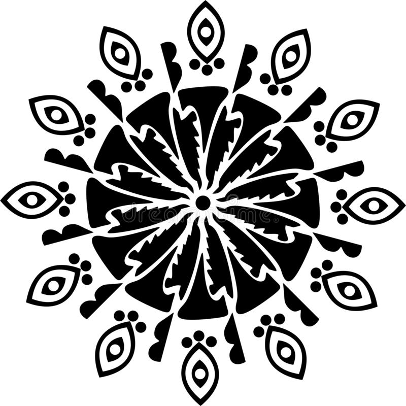 Rund designkniv, svartvita sidor och kniv som trycker på konst med tecknet av träd i fara royaltyfri illustrationer