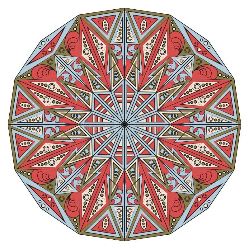 Rund etnisk modell vektor illustrationer
