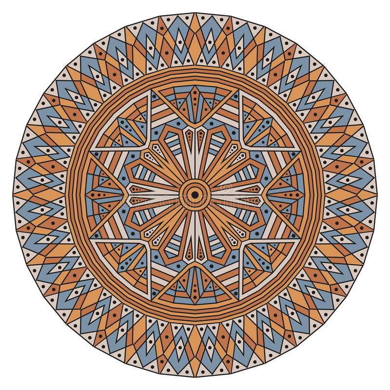 Rund etnisk modell royaltyfri illustrationer