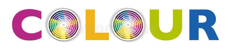 rund färgfärgprovkarta stock illustrationer